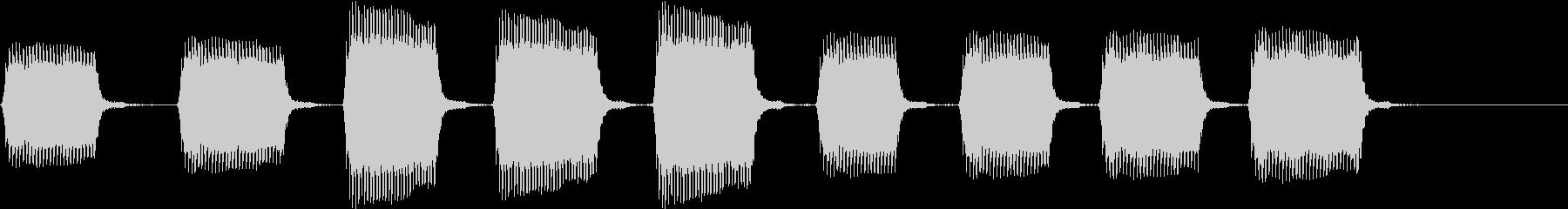 インパクトドライバーでネジを打ち込む音の未再生の波形