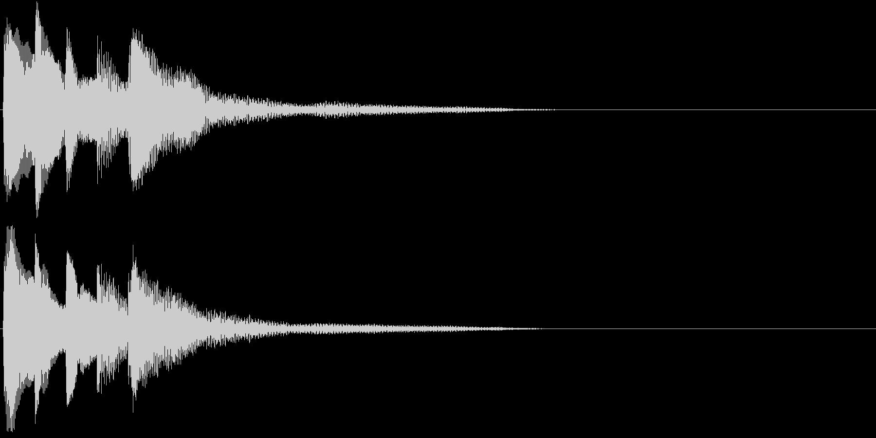 場面を一変させる不思議な響きのピアノ音の未再生の波形