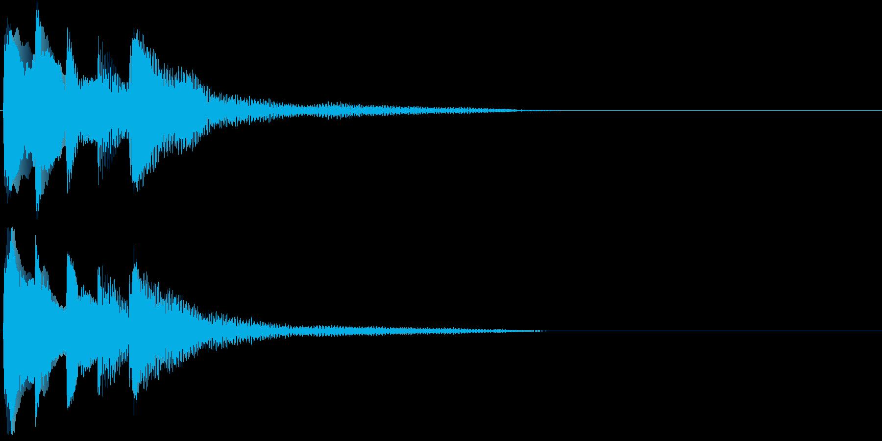 場面を一変させる不思議な響きのピアノ音の再生済みの波形