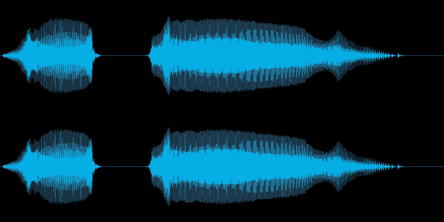 やったー - 幼稚園児女の子(4歳)の再生済みの波形