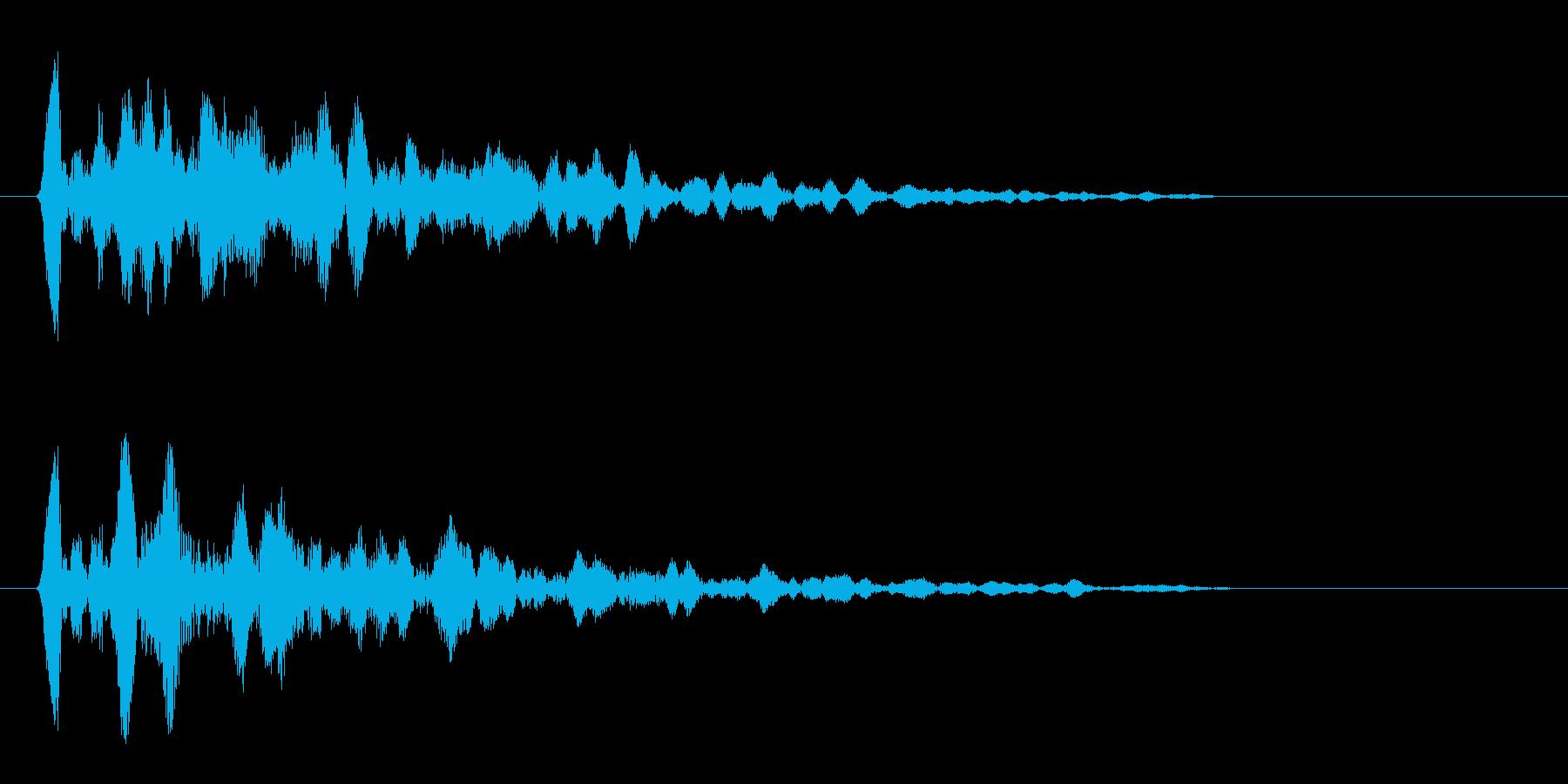 コ〜ン(木材)短めの音の再生済みの波形