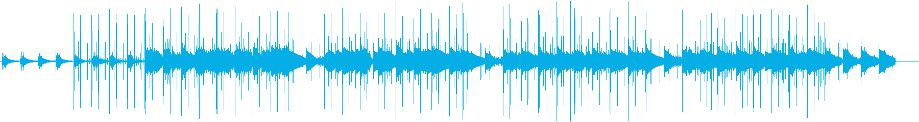 同じようなフレーズが繰り返される曲の再生済みの波形