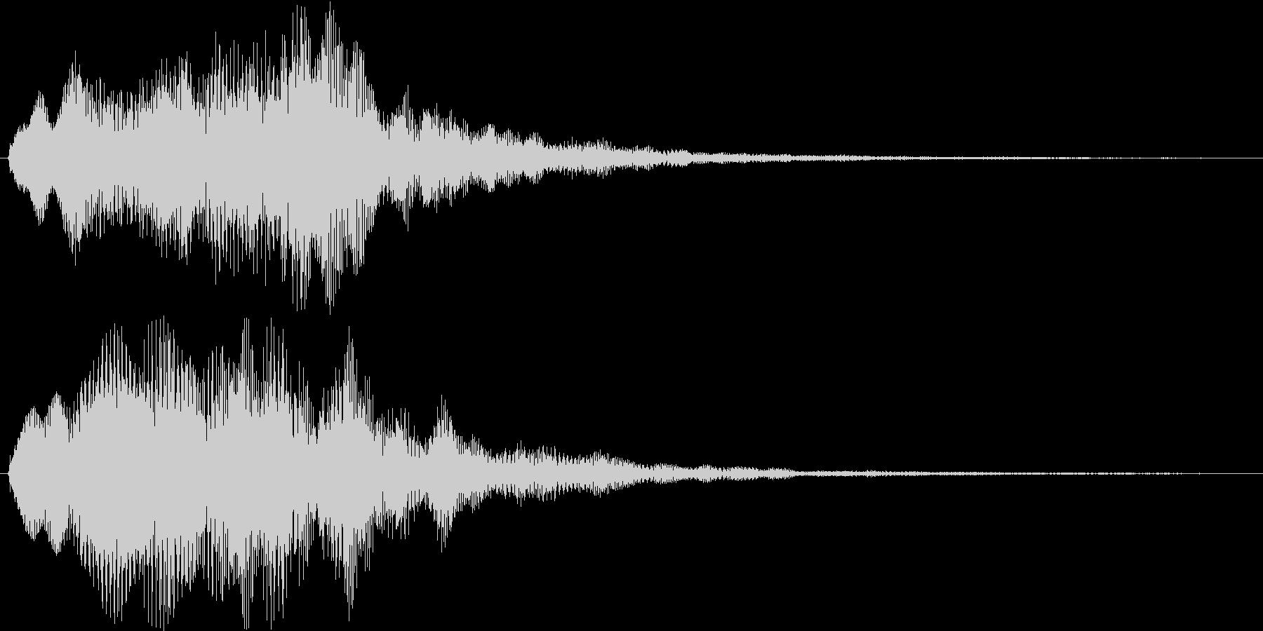 ふわふわ・シャラララと広がるシンセ音の未再生の波形