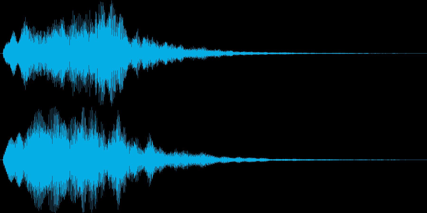 ふわふわ・シャラララと広がるシンセ音の再生済みの波形