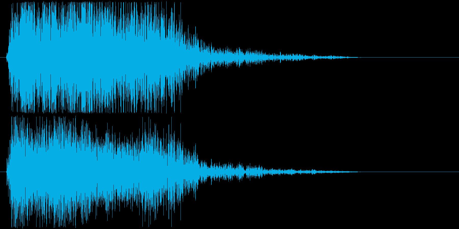 むかっの再生済みの波形
