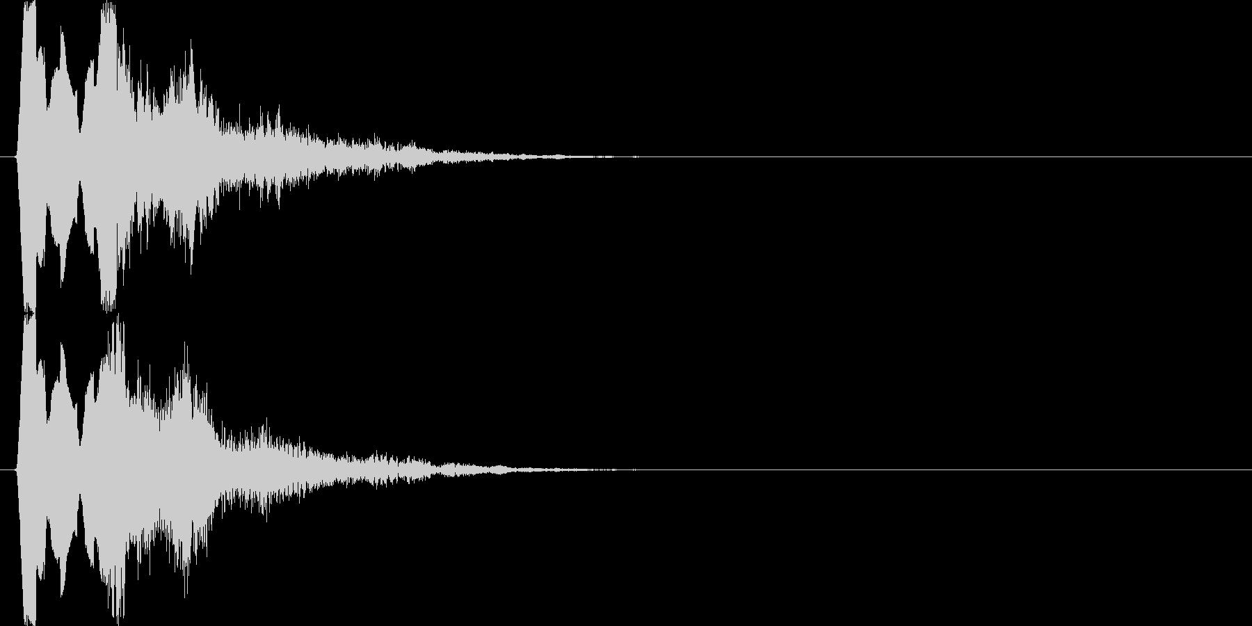 ティロロロ↓テュリン↑(場面転換、魔法)の未再生の波形