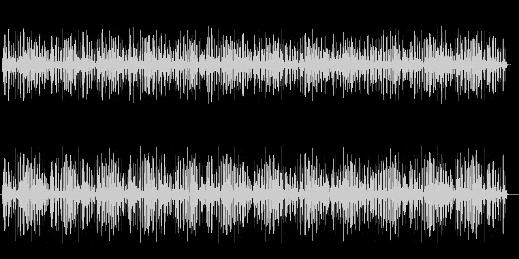 高音の空間的なループのテクノの曲の未再生の波形