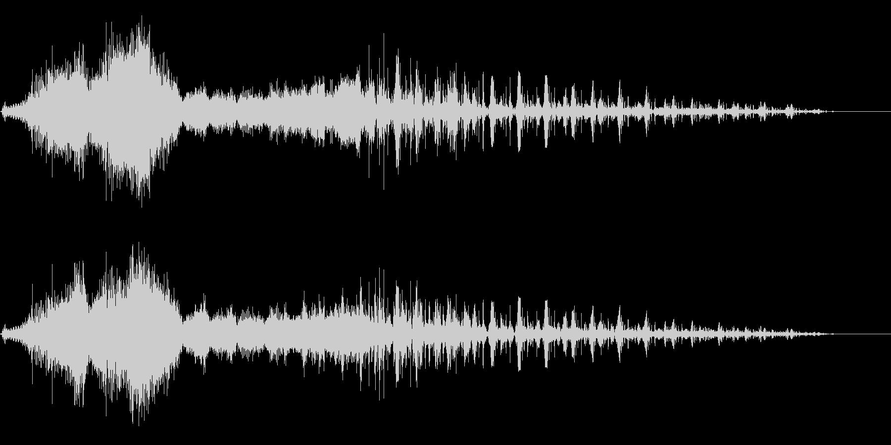 コンピュータの電子音、効果音の未再生の波形