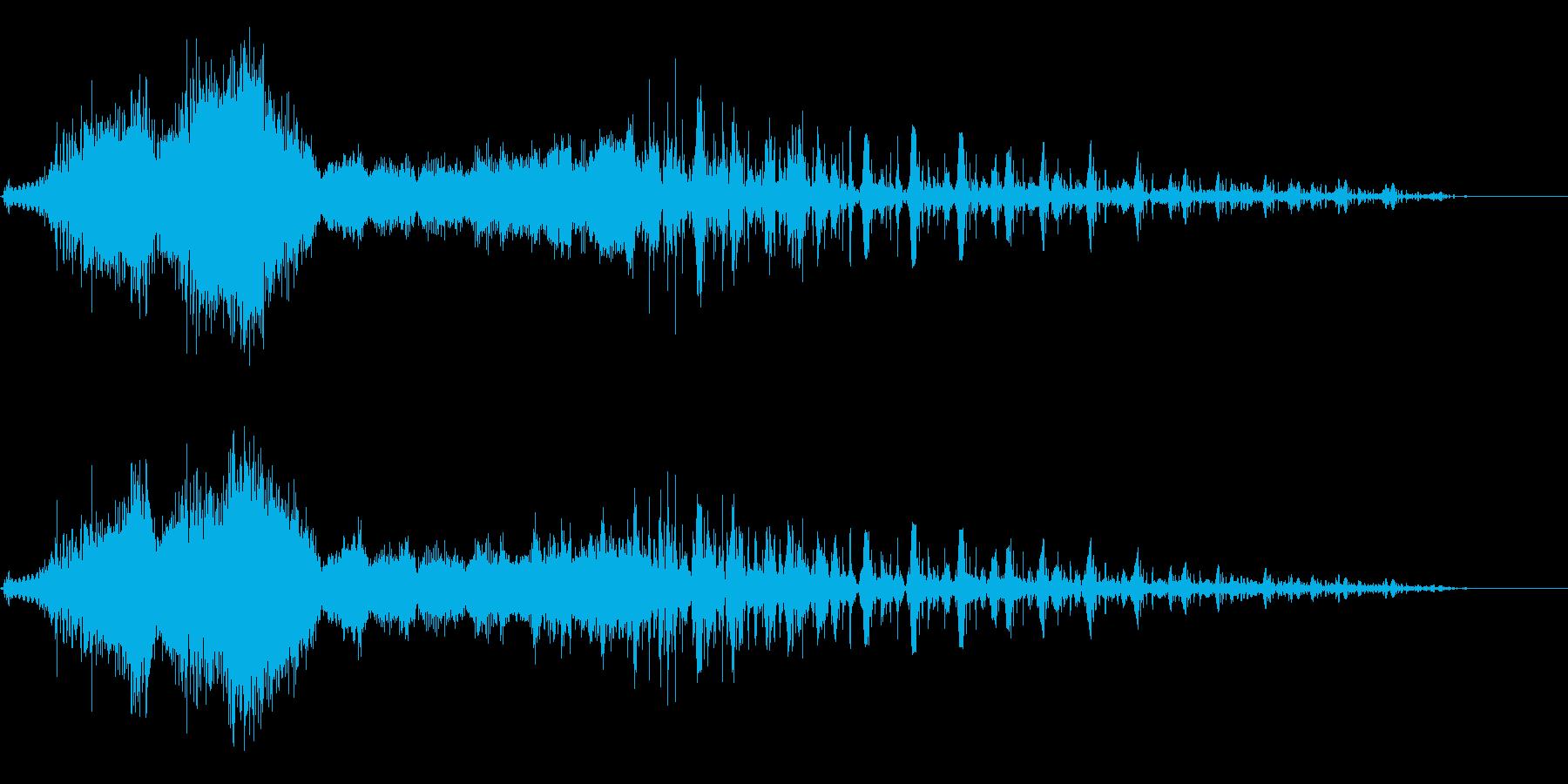 コンピュータの電子音、効果音の再生済みの波形