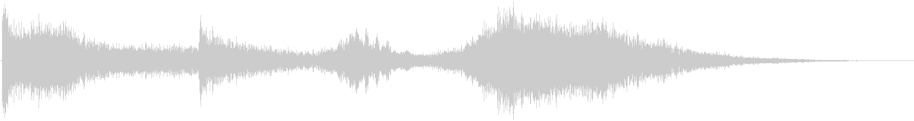 【ホラー】 ダークな映像・タイトルロゴの未再生の波形