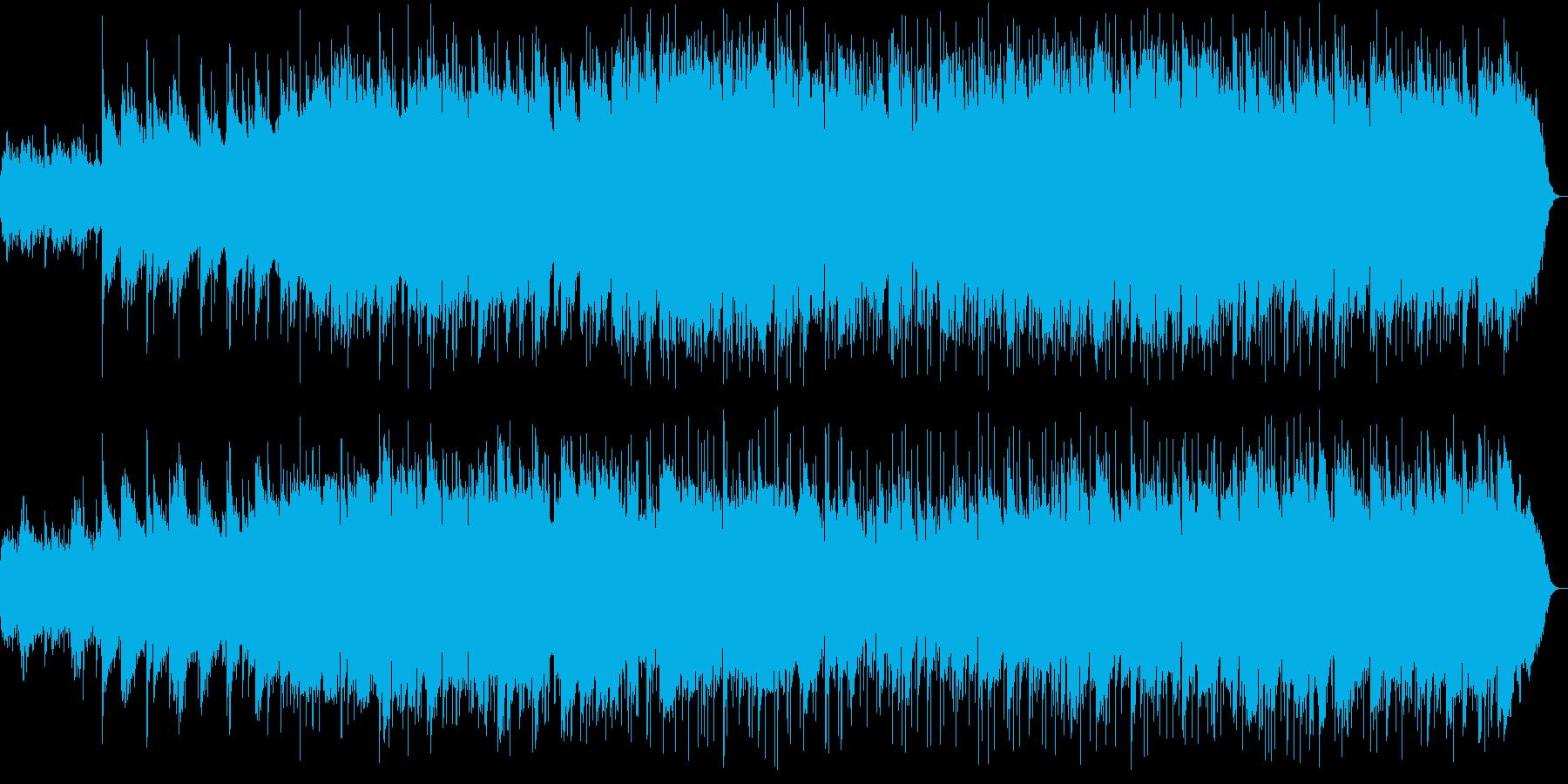 ゆったりとしたリラクゼーション曲の再生済みの波形