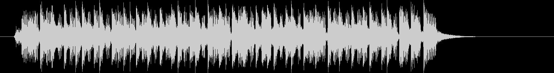 ピアノとシンセのロックンロールの未再生の波形