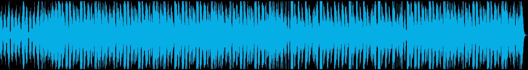 レトロな雰囲気と軽やかなリズム曲の再生済みの波形