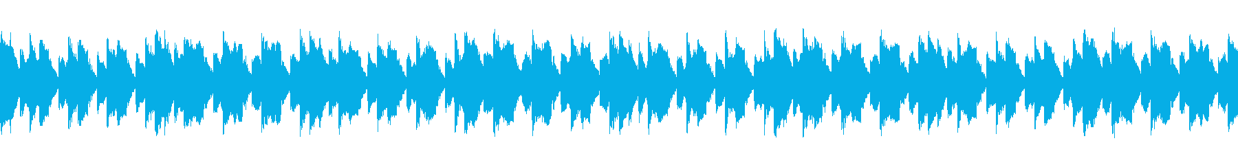 ホラーゲームなどのタイトル画面に合う曲の再生済みの波形