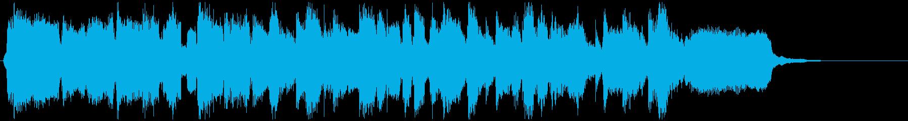 明るいジャズクラリネットの15秒ジングルの再生済みの波形