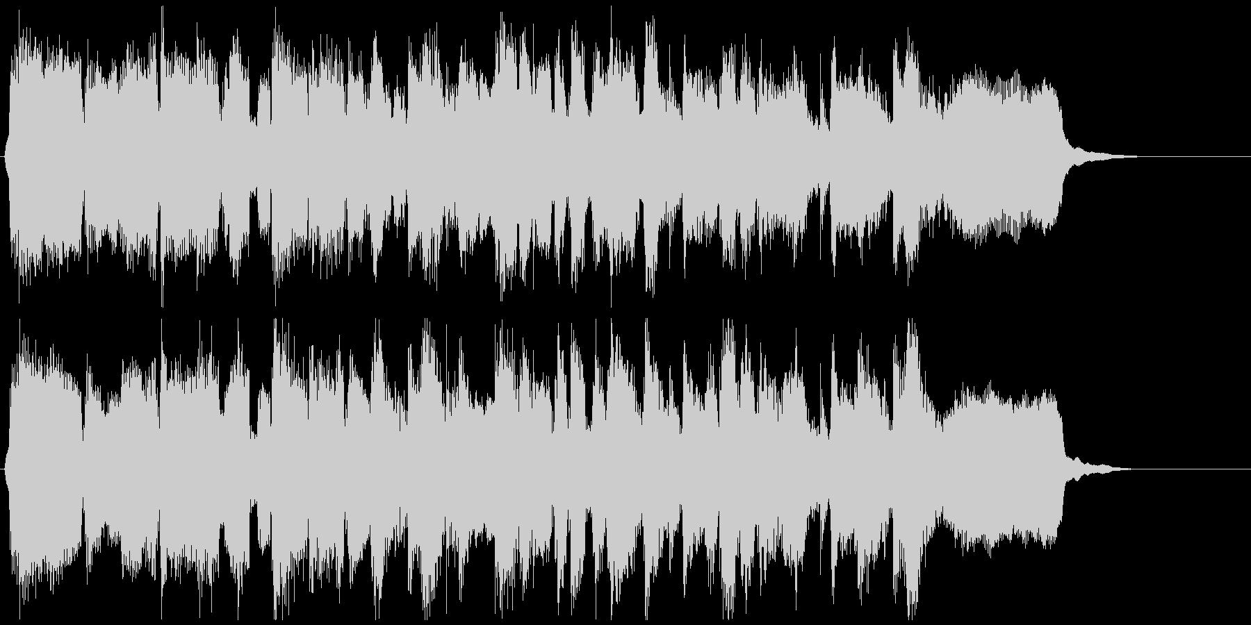 明るいジャズクラリネットの15秒ジングルの未再生の波形