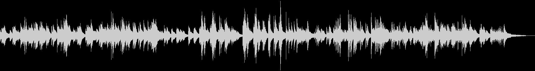 星空のイメージのピアノバラードの未再生の波形