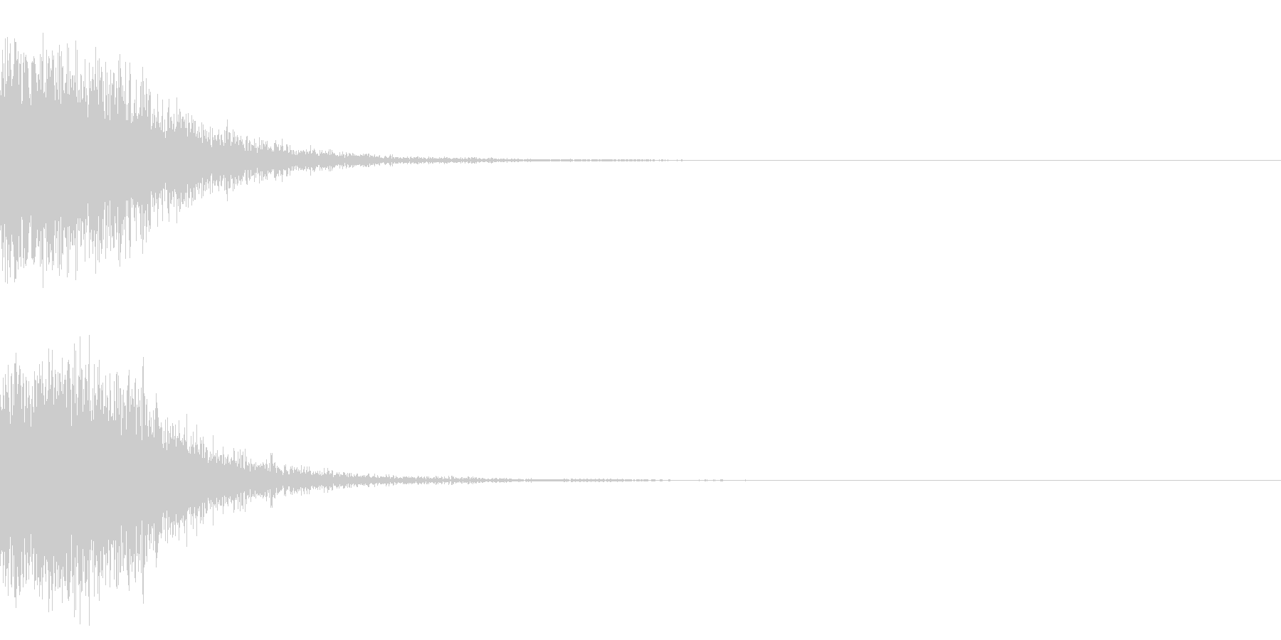 ショットガンの銃声_その2の未再生の波形