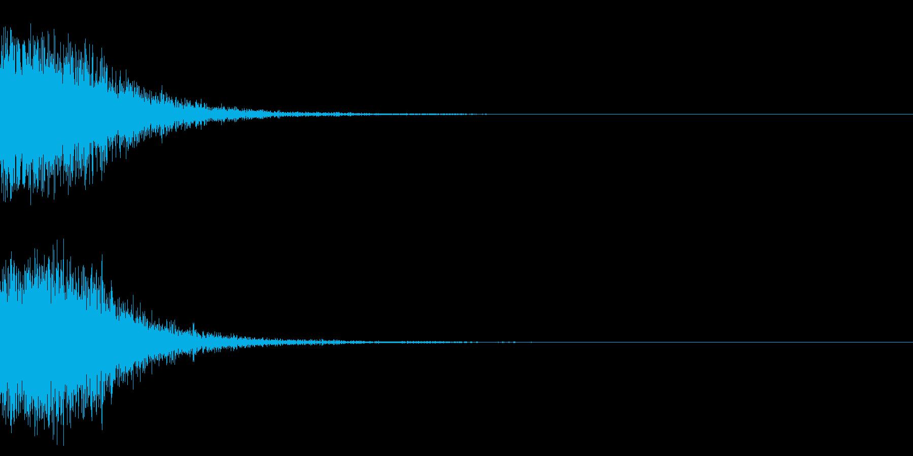 ショットガンの銃声_その2の再生済みの波形