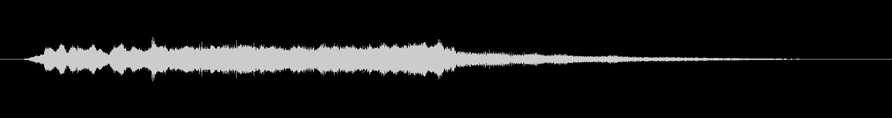 篠笛、琴、による和風ジングル(8秒)の未再生の波形