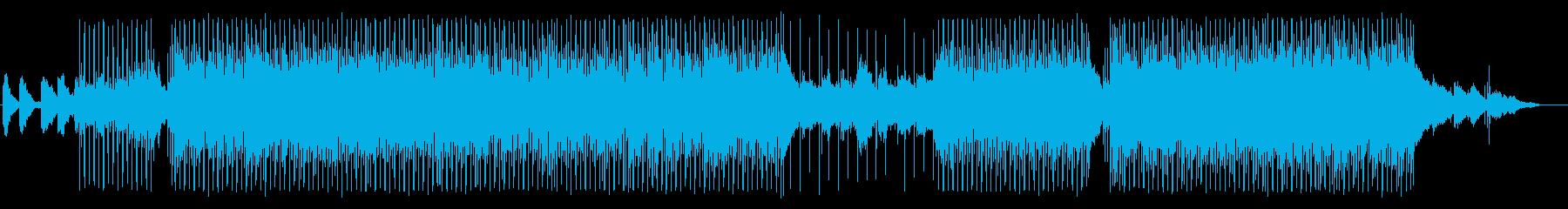 晴れ晴れとしたスローな四つ打ちの再生済みの波形