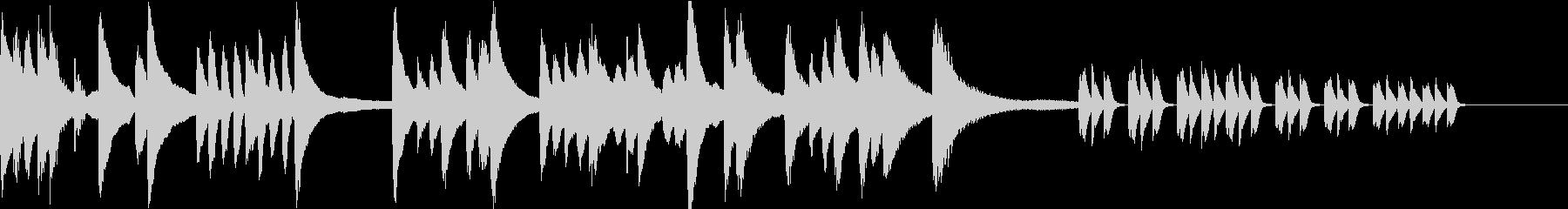 徐々に怪しくなるピアノソロBGMの未再生の波形