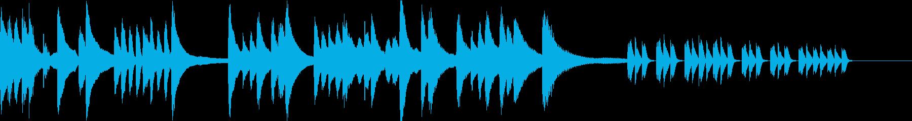 徐々に怪しくなるピアノソロBGMの再生済みの波形