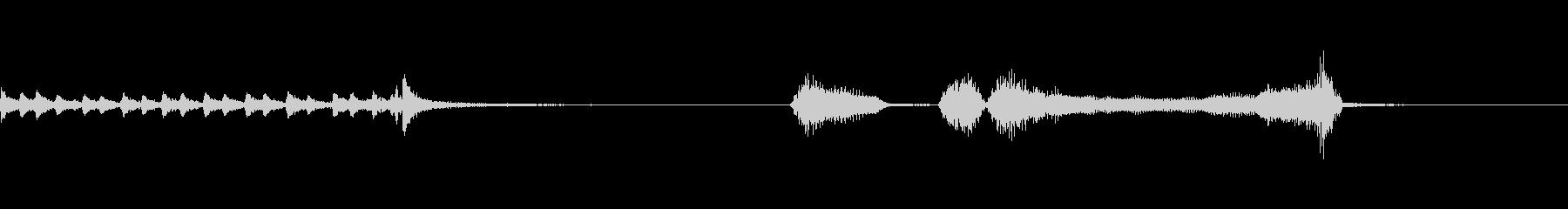 ドラムロールからのパッパパーの未再生の波形