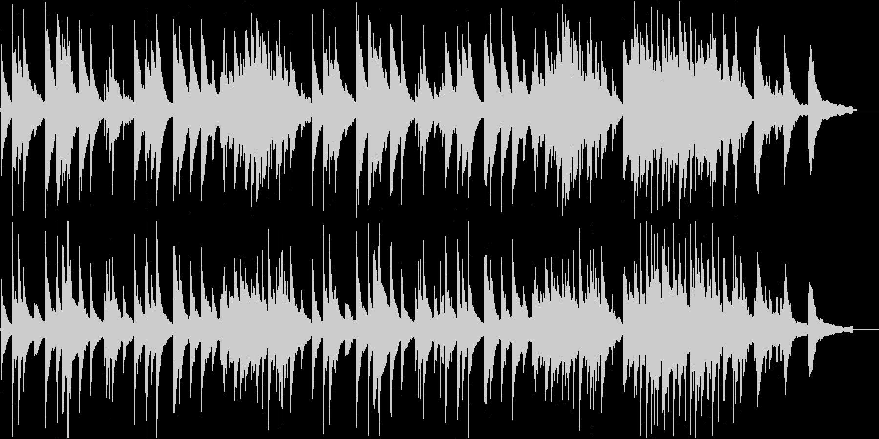 落ち着いたピアノ曲。静寂のイメージの未再生の波形