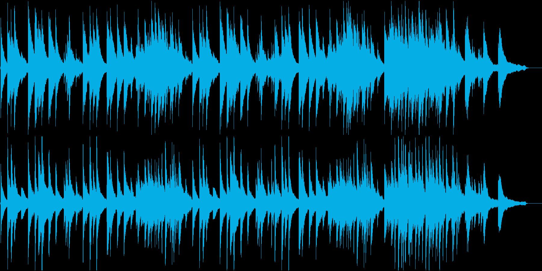 落ち着いたピアノ曲。静寂のイメージの再生済みの波形