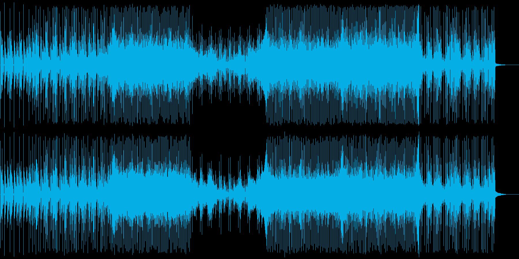 ピアノとエレクトロニカの再生済みの波形