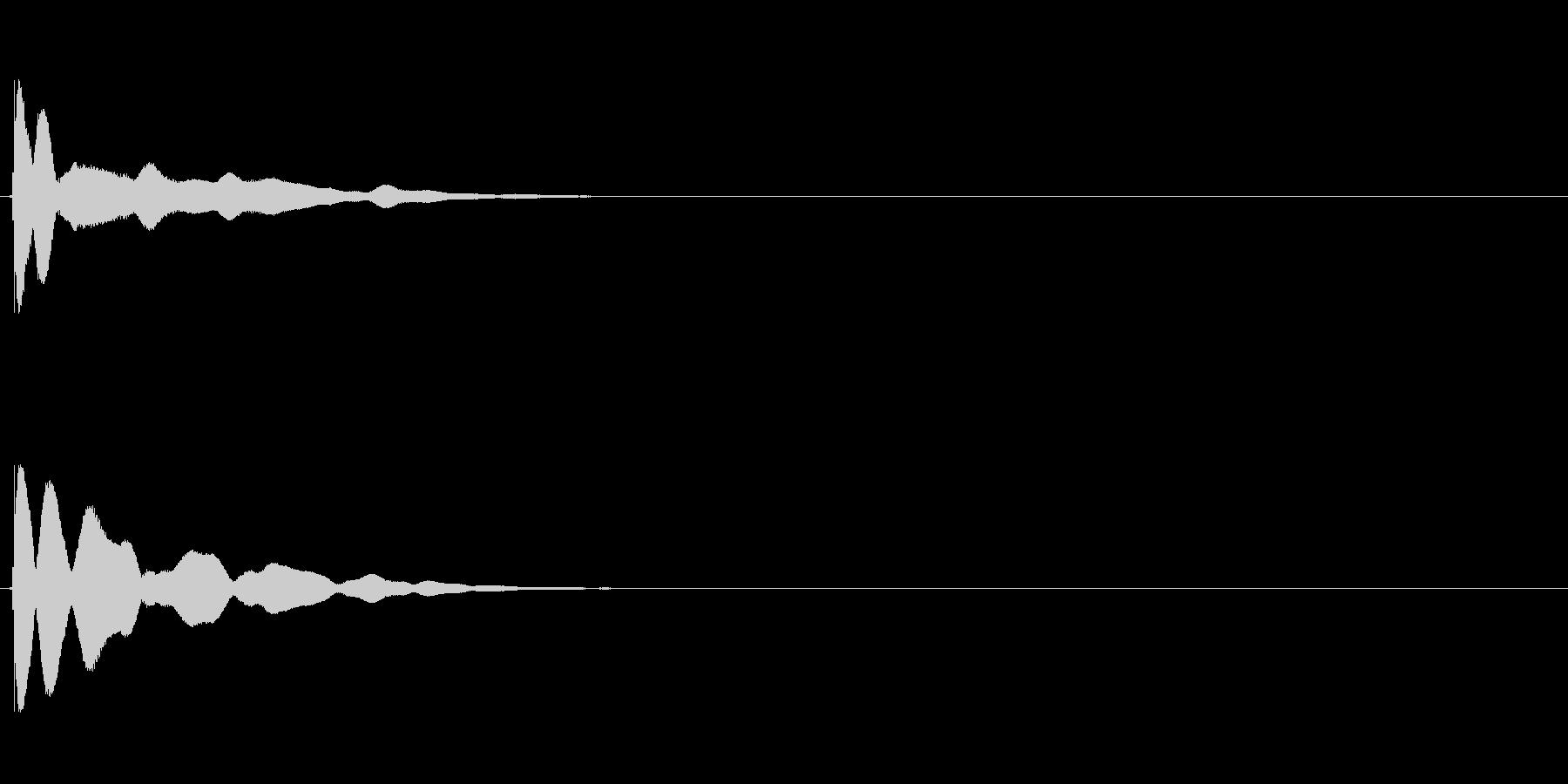 【チーン01-1】の未再生の波形