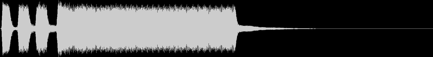 車のクラクション音の未再生の波形