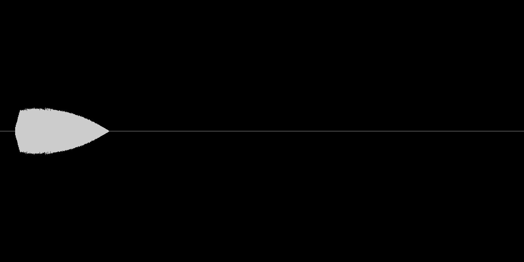 8bitの選択音 ポヨンの未再生の波形