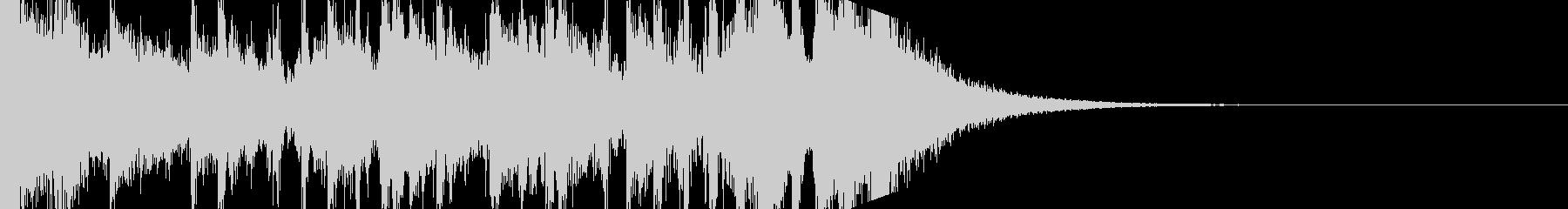 ロックなファンファーレ、ジングルの未再生の波形