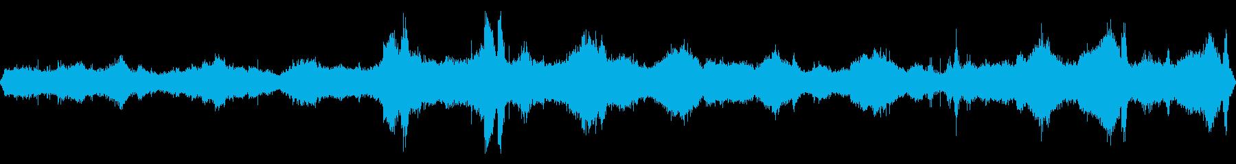 岩場付近の荒々しい波音【大浜海岸、秋】の再生済みの波形