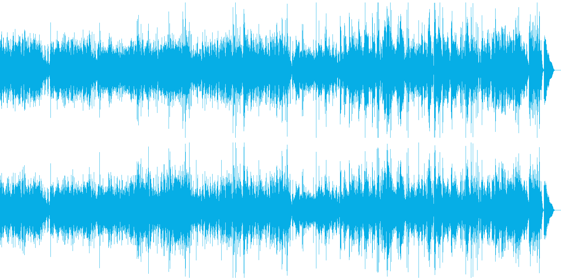 スイングジャズ。の再生済みの波形