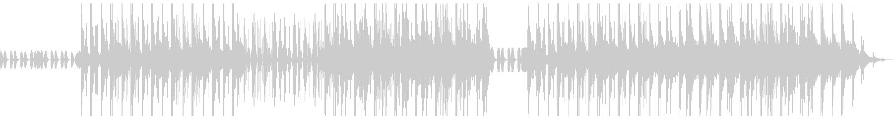ダークな雰囲気のトラップビート ピアノの未再生の波形