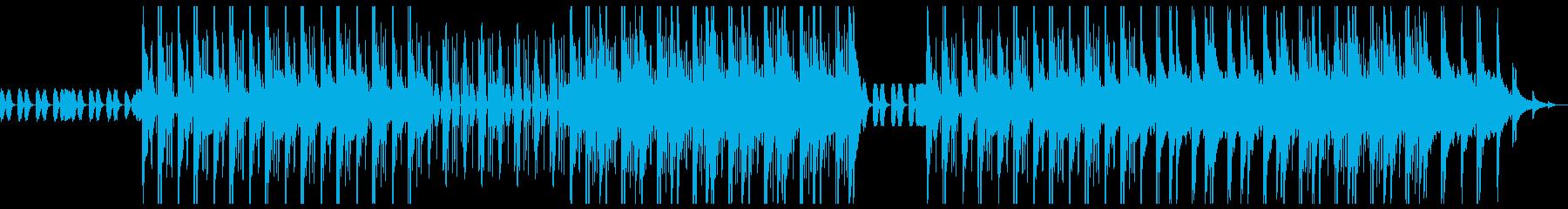 ダークな雰囲気のトラップビート ピアノの再生済みの波形