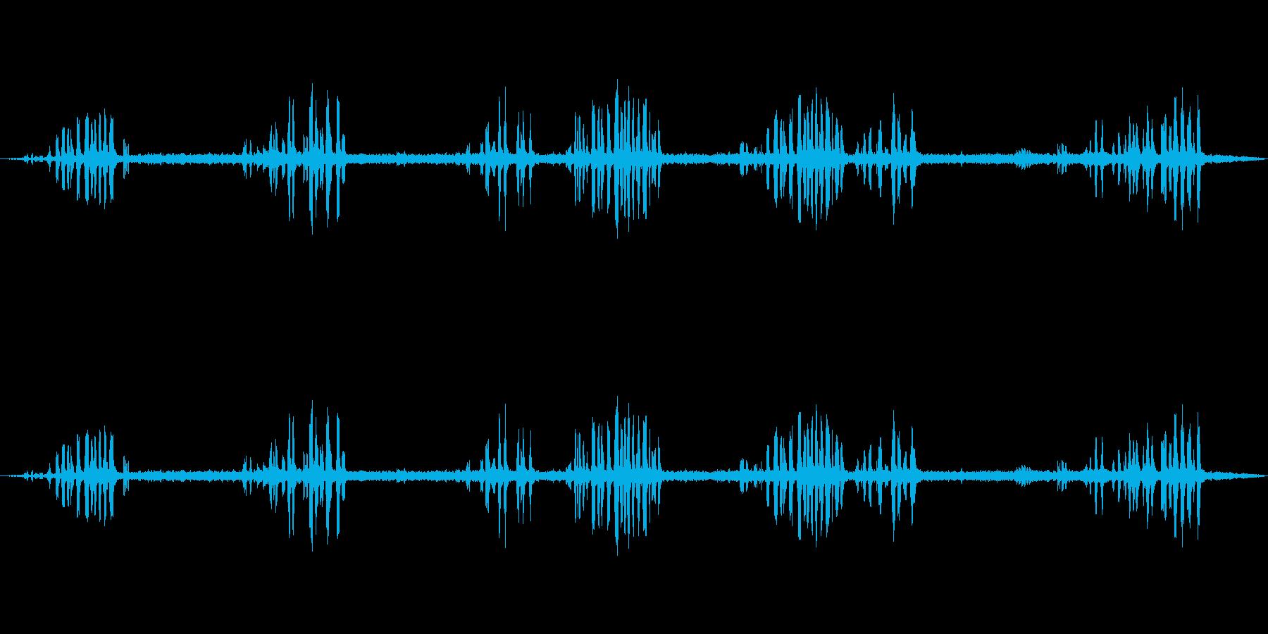 森の中の鳥0-40の再生済みの波形