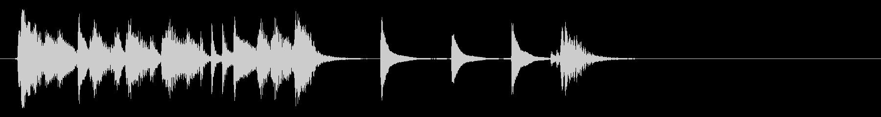お洒落でリズミカルな6秒ジャズピアノ3の未再生の波形