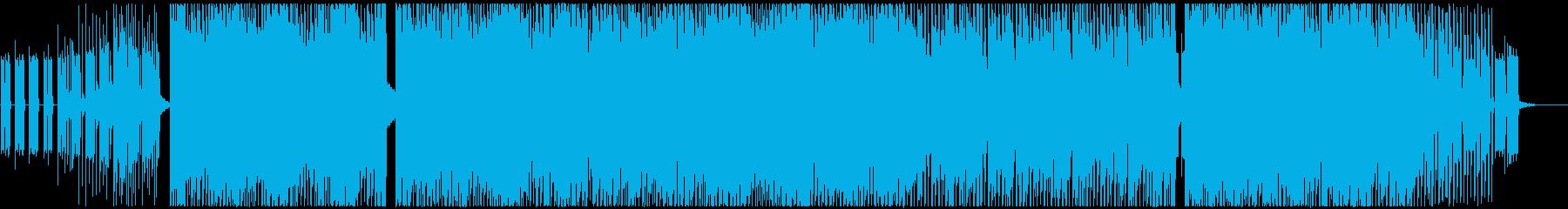 サイケデリックなトランス・レイヴの再生済みの波形