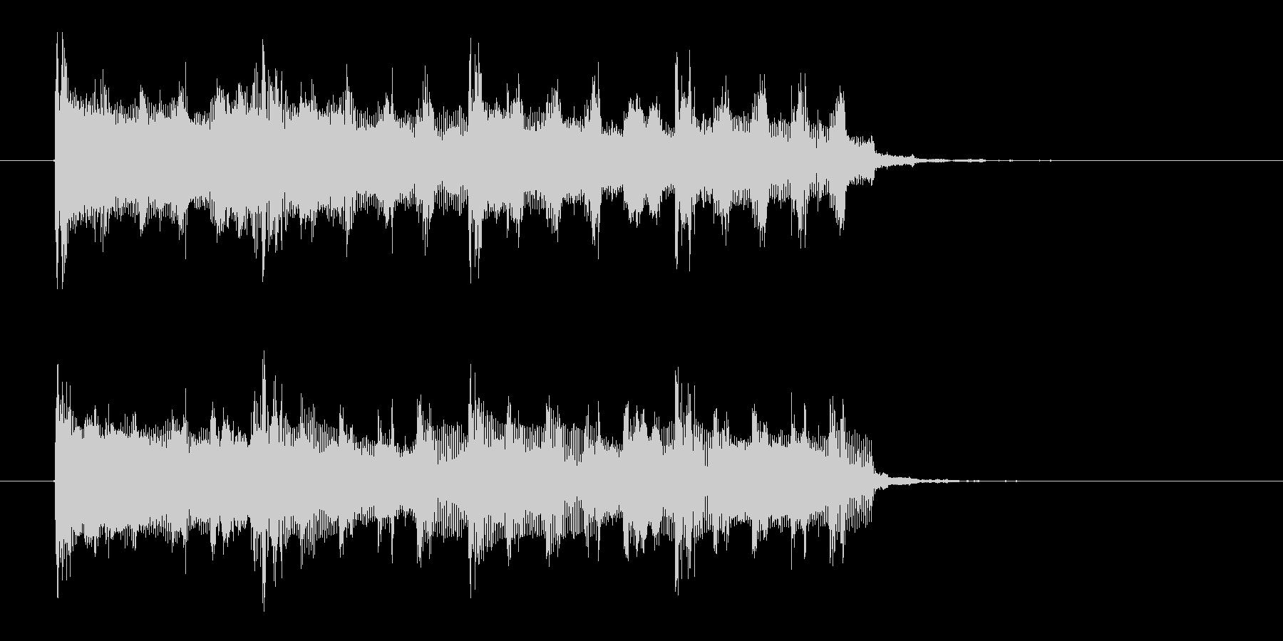 シンプルでロックなテクノジングルの未再生の波形
