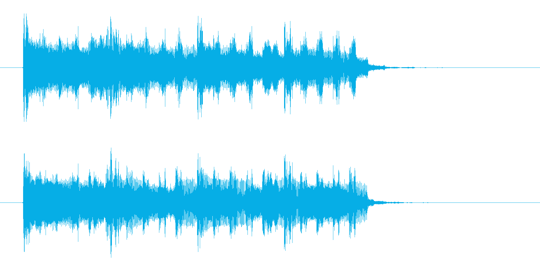 シンプルでロックなテクノジングルの再生済みの波形