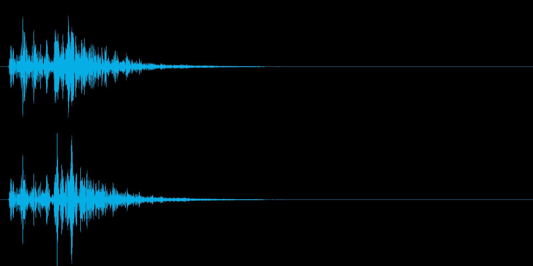 モコモコした音(ぼよよよ)の再生済みの波形