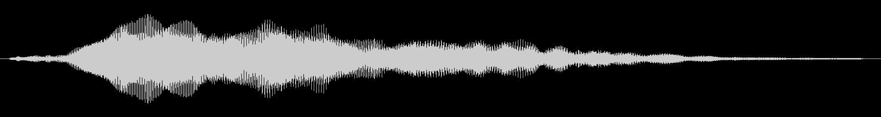 鋭い 鳴っているバズブリター01の未再生の波形