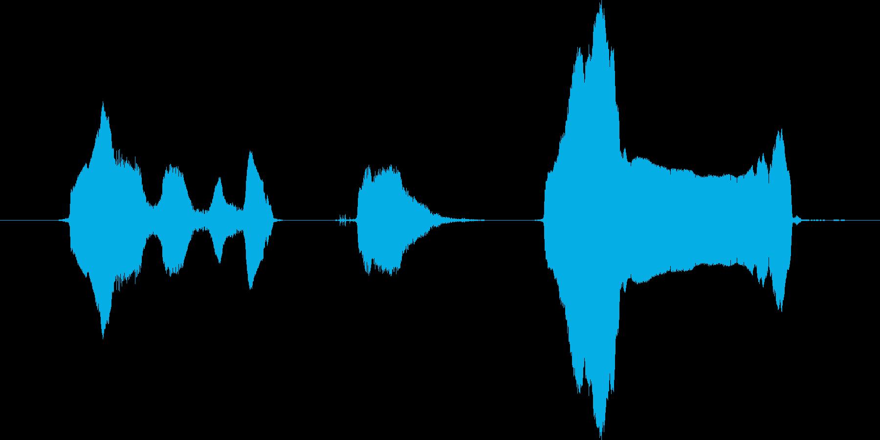 にゅふふふ、にゃーんの再生済みの波形