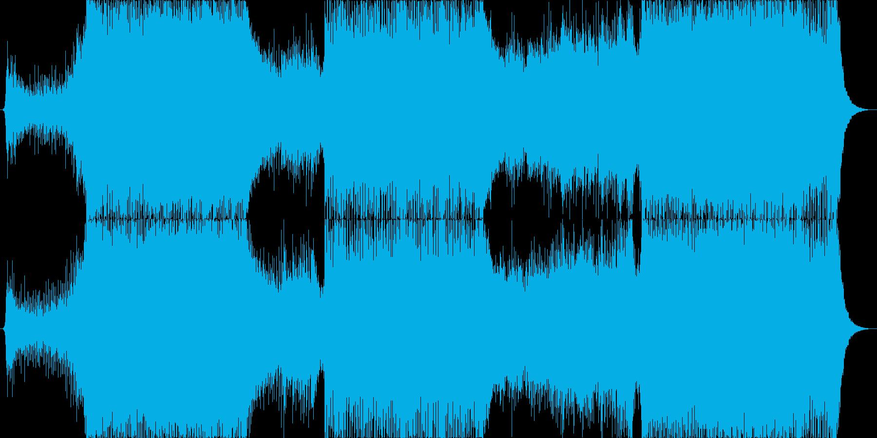 明るめの綺麗なトランス曲の再生済みの波形