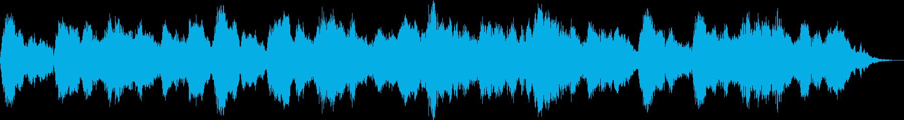 古楽風で幻想的なBGMの再生済みの波形