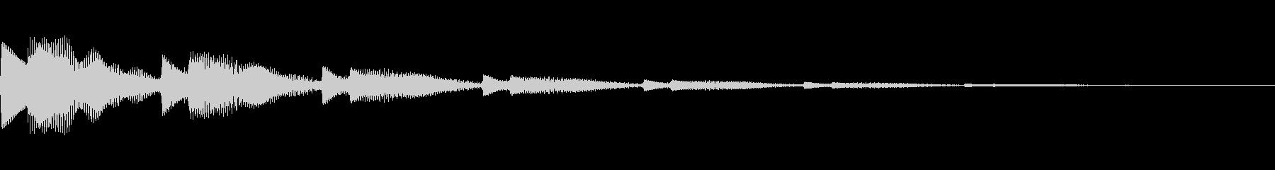 決定音/ボタン/システム/シンプル A1の未再生の波形